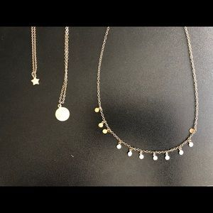 3 dainty necklaces